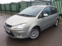 USED 2010 10 FORD C-MAX 1.6 TITANIUM TDCI 5d 108 BHP CRUISE PRIVACY A/C SILVER MET WITH BLACK CLOTH TRIM. HEATED SEATS. CRUISE CONTROL. 16 INCH ALLOYS. COLOUR CODED TRIMS. PRIVACY GLASS. PARKING SENSORS. AIR CON. R/CD PLAYER. TOW BAR. AGE/MILEAGE RELATED SALE. P/X CLEARANCE CENTRE LS23 7FQ TEL 01937 849492 OPTION 3