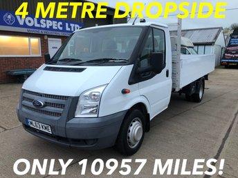 2013 FORD TRANSIT 2.2 350 XLWB DRW 4 METRE DROPSIDE 125 BHP £10500.00