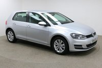 USED 2014 14 VOLKSWAGEN GOLF 1.6 SE TDI BLUEMOTION TECHNOLOGY 5d 103 BHP Finished in stunning metallic Reflex Silver + 16 inch alloys + black cloth interior + Bluetooth + DAB Radio + In Car Entertainment - CD / SD + Start / Stop + Full service history + Air Con + Multi Function Steering wheel + Active Cruise control + Electric Heated Mirrors + Electric Windows + Auto Lights + Free road tax