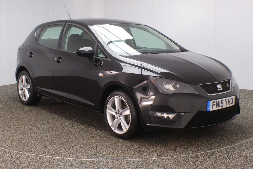 USED 2015 15 SEAT IBIZA 1.6 CR TDI FR 5DR 104 BHP FULL SERVICE HISTORY + £30 12 MONTHS ROAD TAX + SATELLITE NAVIGATION + BLUETOOTH + CRUISE CONTROL + AIR CONDITIONING + RADIO/CD/AUX + ELECTRIC WINDOWS + ELECTRIC MIRRORS + 16 INCH ALLOY WHEELS