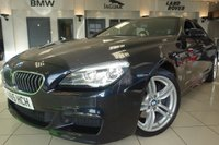 USED 2016 65 BMW 6 SERIES GRAN COUPE 3.0 640D M SPORT GRAN COUPE 4d AUTO 309 BHP FINISHED IN STUNNING CARBON BLACK WITH FULL BLACK LEATHER HEATED ELECTRIC SEATS WITH MEMORY PACK + PROFESSIONAL SATELLITE NAVIGATION + DAB DIGITAL RADIO + BLUETOOTH + PRIVACY GLASS + DUAL ZONE AIR CONDITIONING + AMBIENT LIGHTING + 1 OWNER + FULL SERVICE HISTORY + PARK ASSIST + DAB DIGITAL RADIO + RAIN SENSORS + CRUISE CONTROL + DUAL ZONE AIR CONDITIONING + ULEZ COMPLIANT + ELECTRIC STEERING WHEEL + VOICE COMMAND + AUTO LIGHTS + RAIN SENSORS + PARK ASSIST + SELECTABLE DRIVING MODES + FULL LEATHER