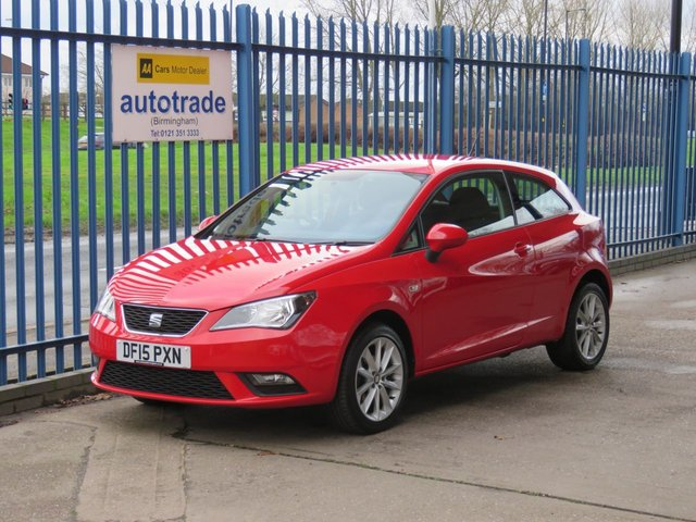 USED 2015 15 SEAT IBIZA 1.4 TOCA 3d 85 BHP Low Miles with satnav,fog lights and alloy wheels