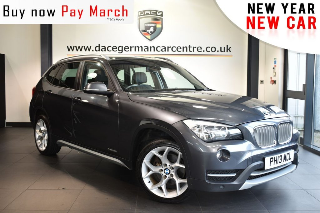 "USED 2013 13 BMW X1 2.0 XDRIVE20I XLINE 5DR 181 BHP Finished in a stunning mineral metallic grey styled with 18"" alloys. Upon opening the drivers door you are presented with full leather interior, bluetooth, DAB radio, heated seats, cruise control, Multifunctio steering wheel, privacy glass, Automatic air conditioning, rain sensors, Driving experience switch incl. ECO PRO, Fog lights, parking sensors"
