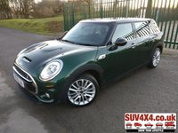 USED 2015 65 MINI CLUBMAN 2.0 COOPER S 5d 189 BHP SATNAV LEATHER CRUISE CLIMATE BLUETOOTH SATELLITE NAVIGATION. STUNNING GREEN MET WITH BLACK FULL LEATHER TRIM. ELECTRIC HEATED MEMORY SEATS. CRUISE CONTROL. 17 INCH ALLOYS. COLOUR CODED TRIMS. PARKING SENSORS. BLUETOOTH PREP. CLIMATE CONTROL WITH AIR CON. R/CD PLAYER. MFSW. MOT 01/21. SERVICE HISTORY. SUV4X4 CAR CENTRE LS23 7FQ TEL 01937 849492 OPTION 2
