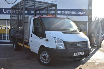 2014 FORD TRANSIT 2.2 460 E/F C/C DRW 153 BHP TIPPER DOUBLE LOCK BOXES FULL CAGE REAR LIFT  £11999.00