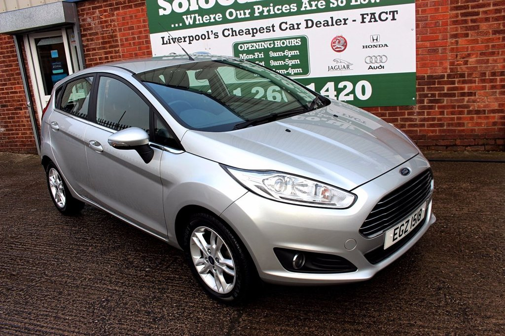 USED 2016 66 FORD FIESTA 1.0 ZETEC 5d 99 BHP +ONE OWNER +FREE TAX +SAT NAV.