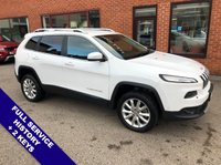 """USED 2015 15 JEEP CHEROKEE 2.0 M-JET LIMITED 5DOOR 168 BHP DAB Radio     :     Satellite Navigation     :     USB & AUX Sockets     :     Cruise Control         Bluetooth   :   Climate Control / Air Conditioning   :   Heated & Cooling Front Seats             Electric Driver Seat   :   Rear View Camera   :   Auto Tailgate   :   Front/Rear Parking Sensors        18"""" Alloy Wheels   :   2 Keys   :   Full Service History"""