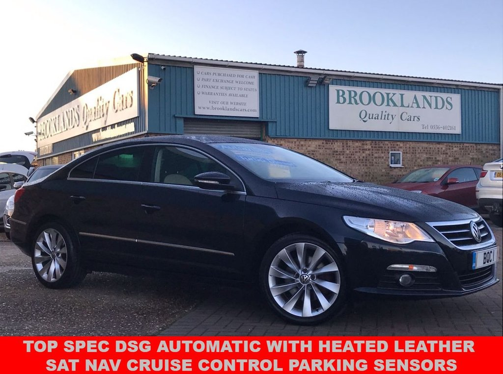 USED 2011 61 VOLKSWAGEN PASSAT 2.0 CC GT TDI BLUEMOTION TECHNOLOGY DSG Night Blue Met. 139 BHP TOP SPEC DSG AUTOMATIC WITH HEATED LEATHER SAT NAV CRUISE CONTROL PARKING SENSORS AND LOTS MORE