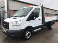 USED 2016 66 FORD TRANSIT 350 125PS NEWSHAPE SINGLE CAB TIPPER **VERY LOW MILES**
