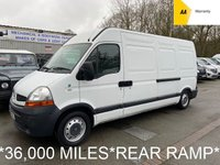 2008 RENAULT MASTER *36,000 M* 2.5 LM35 LWB 100 BHP *REAR RAMP* £4995.00