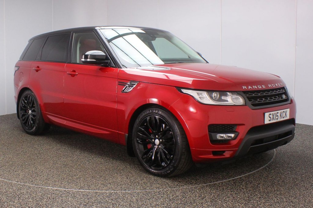 USED 2015 15 LAND ROVER RANGE ROVER SPORT 3.0 SDV6 AUTOBIOGRAPHY DYNAMIC 5d AUTO 306 BHP + SAT NAV + PAN ROOF + LEATHER FULL SERVICE HISTORY + FRONT/REAR HEATED LEATHER SEATS + SATELLITE NAVIGATION + REVERSE CAMERA + PANORAMIC ROOF + PARKING SENSOR + BLUETOOTH + CRUISE CONTROL + HEATED STEERING WHEEL + MERIDIAN PREMIUM SPEAKERS + MULTI FUNCTION WHEEL + ELECTRIC/MEMORY SEATS + PRIVACY GLASS + XENON HEADLIGHTS + DAB RADIO + ELECTRIC WINDOWS + ELECTRIC MIRRORS + 21 INCH ALLOY WHEELS