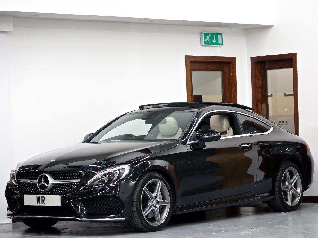 USED 2016 16 MERCEDES-BENZ C CLASS 2.1 C250d AMG Line (Premium Plus) G-Tronic+ (s/s) 2dr PAN ROOF + R/CAMERA+ BURMESTER