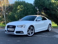 """USED 2012 12 AUDI A5 2.0 TDI S LINE S/S 2d 177 BHP S-LINE,GREAT SPEC, WHITE,HEATED LEATHER,19"""" ALLOYS,PRIVACY,AUTO LIGHTS,AND MUCH MORE WITH FSH,LOOKS AND STYLE, FINANCE AVAILABLE!!"""