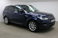 USED 2016 66 LAND ROVER RANGE ROVER SPORT 3.0 SDV6 HSE 5d AUTO 306 BHP Finished in stunning Dark Sapphire + 20 Inch alloys & Black / cream leather + Sat Nav + Bluetooth + DAB Radio + 1 owner + In car entertainment - CD / AUX / IPOD / USB / DVD + Air Con + Dual Climate control + Cruise Control + Electric Folding Mirrors + Electric Windows + Panoramic Sunroof + Electric boot + Front / Rear parking sensors + Reverse Camera + Auto lights / wipers + Heated Front / Rear seats + Voice control + Changeable ride height + Electric adjustable steering wheel + ULEZ EXEMPT