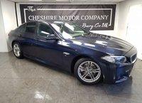 USED 2014 63 BMW 5 SERIES 2.0 520D M SPORT 4d 181 BHP + HISTORY + NAV + 2 KEYS + LEATHER
