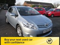 USED 2011 60 TOYOTA AURIS 1.6 TR VALVEMATIC  5d 132 BHP FULL TOYOTA SERVICE HISTORY