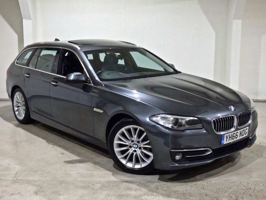 USED 2016 66 BMW 5 SERIES 2.0 520D LUXURY TOURING 5d 188 BHP