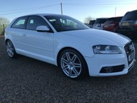 USED 2011 11 AUDI A3 2.0 TDI 170ps S-LINE IBIS WHITE FSH 2 OWNERS