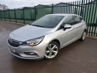 USED 2016 65 VAUXHALL ASTRA 1.6 SRI CDTI S/S 5d 134 BHP MEDIA CONNECTION ALLOYS CRUISE BLUETOOTH CLIMATE MEDIA DEVICE SCREEN PROJECTION. SILVER MET WITH BLACK CLOTH TRIM. CRUISE CONTROL. 17 INCH ALLOYS. COLOUR CODED TRIMS. BLUETOOTH PREP. CLIMATE CONTROL WITH AIR CON. R/CD PLAYER. MFSW. MOT 01/20, SUV4X4 USED CAR CENTRE - LS23 7FQ. TEL 01937 849492 OPTION 2