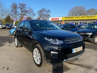 "USED 2015 65 LAND ROVER DISCOVERY SPORT 2.0 TD4 HSE 5d 180 BHP IN METALLIC BLACK WITH 69200 MILES, FULL SERVICE HISTORY, WITH A HUGE SPEC AND  1 OWNER Approved Cars are pleased to offer this stunningly immaculate 2015 Land Rover Discovery Sport 2.0 TD4 HSE in metallic black with 69200 miles. This ideal family car has been extremely well looked after and maintained and comes with a full service history. This luxury 4X4 comes well equipped with panoramic roof, full black lather, panoramic sun roof, bluetooth, cruise control 19"" alloy wheels, auto dimming rear view mirror and much much more. For more information call 01622 871555"