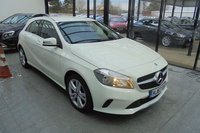 """USED 2017 67 MERCEDES-BENZ A CLASS 1.5 A 180 D SPORT 5d 107 BHP STUNNING BRILLIANT WHITE PAINTWORK WITH FULL BLACK ARTICO LEATHER UPHOLSTERY. ONLY ONE OWNER FROM NEW WITH MERCEDES SERVICE HISTORY. MERCEDES WARRANTY TILL 29th OCTOBER 2020. RESERVING CAMERA. PRE-INSTALLATION OF GARMIN MAP PILOT. AIR CONDITIONING. ELECTRIC WINDOWS. REMOTE CENTRAL LOCKING WITH TWO KEYS. 17"""" ALLOY WHEELS. BLUETOOTH SYSTEM. PLEASE GOTO www.lowcostmotorcompany.co.uk TO VIEW OVER 120 CARS IN STOCK"""