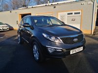 USED 2013 63 KIA SPORTAGE 1.7 CRDI 3 5d 114 BHP Metallic paint, Twin Sunroofs, Full Leather, Bluetooth, Rear Parking Sensors, Cruise Control