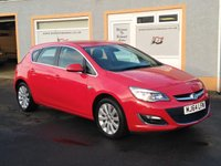 """USED 2014 64 VAUXHALL ASTRA 2.0 ELITE CDTI S/S 5d 163 BHP 17"""" Alloys, Leather Upholstery, Front and Rear Parking sensors, Heated seats, Cruise Control, 3 Service Stamps"""