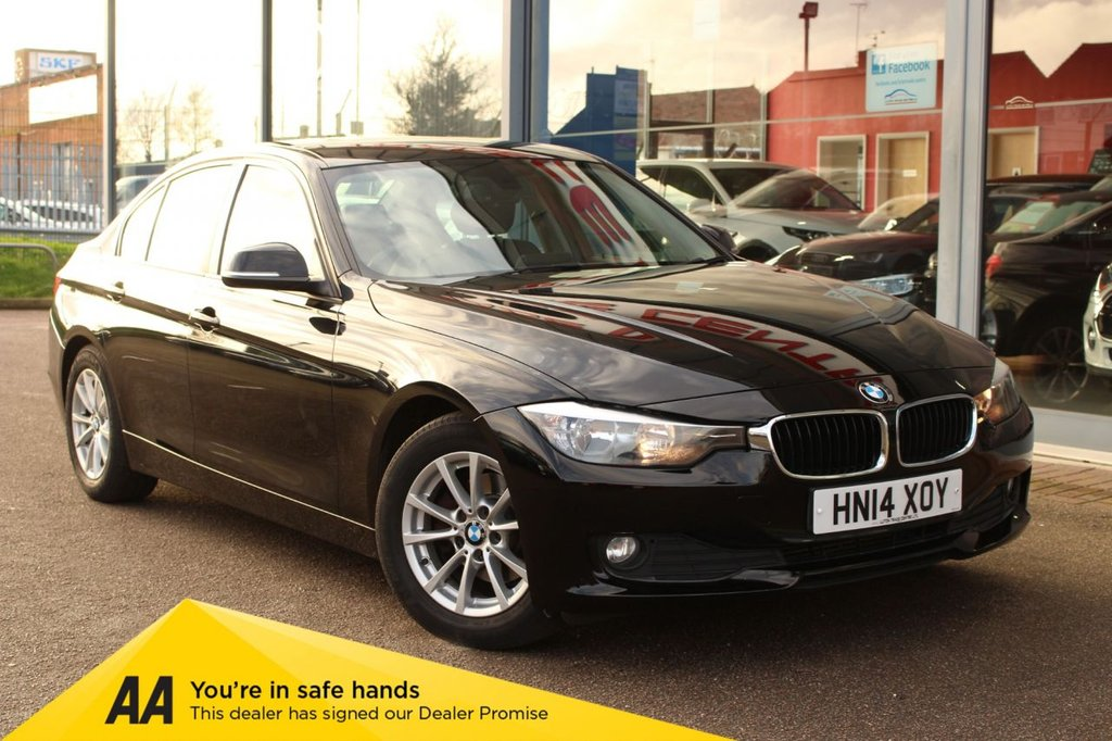 "USED 2014 14 BMW 3 SERIES 2.0 320D EFFICIENTDYNAMICS BUSINESS 4d 161 BHP - £20 TAX, NAV, HTD/LEATHER, CRUISE, 16"" ALLOYS, DAB & BLUETOOTH"