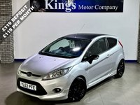 USED 2012 62 FORD FIESTA 1.6 ZETEC S 3dr App Pack  New MOT,Drive Away SAME DAY!! , Bluetooth, Black Roof & Alloys