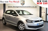 USED 2014 14 VOLKSWAGEN POLO 1.2 S A/C 5DR 60 BHP Finished in a stunning reflex metallic silver. Upon opening the drivers door you are presented with cloth upholstery, full service history, DAB radio, auxiliary port, air conditioning, heated rear window