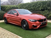 USED 2019 19 BMW M4 3.0 M4 COMPETITION 2d 444 BHP A Pristine Example Finished in Shakir Orange Metallic with the all Important Running in Service Completed. Specification Includes: Black Full Leather Heated Electric Memory Sports Seats + Illuminated Logo's to Seat Backs + Contrast Stitch, HDD Satellite Navigation + Bluetooth Connectivity + Harmon Kardon Premium Sound + DAB Radio, Front and Rear Park Distance Control + Reverse Camera, 20 Inch M Star Sport Alloy Wheels, Leather Multi Function Steering Wheel, Cruise Control, Automatic LED Headligh
