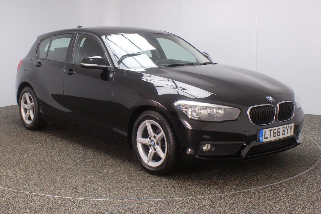 USED 2016 66 BMW 1 SERIES 1.5 116D ED PLUS 5DR 1 OWNER 114 BHP FULL SERVICE HISTORY + FREE 12 MONTHS ROAD TAX + SATELLITE NAVIGATION + PARKING SENSOR + BLUETOOTH + CRUISE CONTROL + AIR CONDITIONING + MULTI FUNCTION WHEEL + DAB RADIO + ELECTRIC WINDOWS + ELECTRIC MIRRORS + 16 INCH ALLOY WHEELS