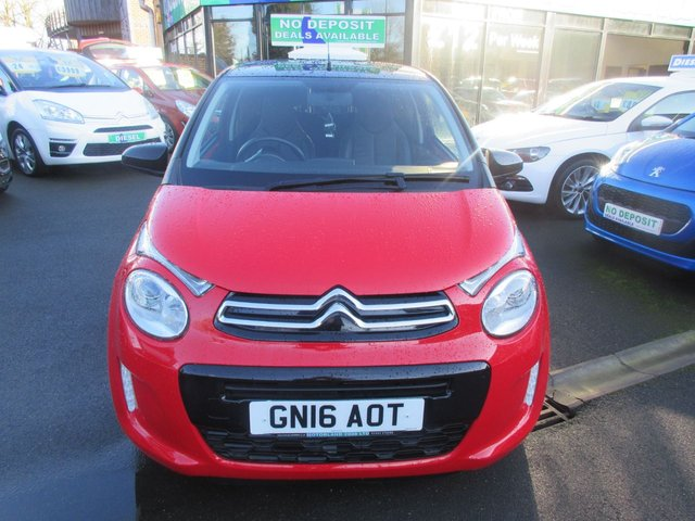 USED 2016 16 CITROEN C1 1.2 PURETECH FLAIR 3d 82 BHP CALL 01543 379066... 12 MONTHS MOT.... 6 MONTHS WARRANTY... FULL LEATHER... TOUCH SCREEN