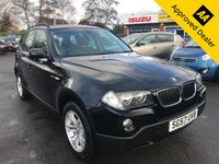 2007 BMW X3 2.0 D SE 5d 148 BHP IN METALLIC BLACK WITH 96000 MILES, FULL SERVICE HISTORY AND A GREAT SPEC. THIS CAR IS ULEZ COMPLIANT. DUE TO AGE AND MILEAGE THIS IS A TRADE SALE VEHICLE £2699.00