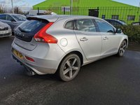 USED 2016 66 VOLVO V40 2.0 D2 R-DESIGN 5d 118 BHP IN METALLIC SILVER WITH 46600 MILES, FULL VOLVO SERVICE HISTORY, 2 OWNERS AND A GREAT SPEC INCLUDING BLACK LEATHER AND R-DESIGN PACKAGE. THIS IS A ULEZ COMPLIANT VEHICLE Approved Cars are pleased to offer this immaculate 2016 Volvo V40 R-Design in metallic silver with only 46600 miles. This car has been extremely well looked after and maintained and comes with a full Volvo service history with service stamps at 3k, 15k, and 45000 miles. This ideal family car comes well equipped with DAB radio, full black leather/ alcantara interior, bluetooth, aircon, isofix and much much more. For more information or to book a test drive please call our sales team on01622871555