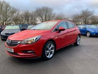 USED 2016 16 VAUXHALL ASTRA 1.4 SRI AUTOMATIC S/S 5d 148 BHP IN METALLIC RED WITH ONLY 46200 MILES, FULL VAUXHALL SERVICE HISTORY, 1 OWNER AND A GREAT SPEC INCLUDING SAT NAV AND AN AUTOMATIC GEARBOX Approved Cars are pleased to offer this stunningly immaculate 2016 Vauxhall Astra SRI 1.4 in metallic red with only 46200 miles. This medium family hatchback has been extremely well looked after and maintained and comes with a full Vauxhall dealership service history with service stamps at 16k, 27k and 37000 miles. This sportly hatchback comes well equipped with an automatic gearbox, Sat Nav, apple car play and android auto, DAB radio, rear isofix, and much much more.
