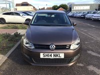 USED 2014 14 VOLKSWAGEN POLO 1.4 MATCH EDITION DSG 5d 83 BHP IN METALLIC BROWN WITH ONLY 49700  MILES, FULL SERVICE HISTORY, 1 OWNER AND A GREAT SPEC. THIS VEHICLE IS ULEZ COMPLIANT  Approved Cars are pleased to offer this stunningly immaculate 2014 Volkswagen Polo 1.4 Match Edition with only 49700 miles. This small hatchback has been extremely well looked after and maintained and comes with a full dealership service history with service stamps at 11k, 25k and 38000 miles. This ideal automatic hatchback comes well equipped with bluetooth, DAB radio, rear isofix, rear parking sensors, 5 doors, electric windows and much much more.