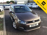2014 VOLKSWAGEN POLO 1.4 MATCH EDITION DSG 5d 83 BHP IN METALLIC BROWN WITH ONLY 49700  MILES, FULL SERVICE HISTORY, 1 OWNER AND A GREAT SPEC. THIS VEHICLE IS ULEZ COMPLIANT  £7899.00