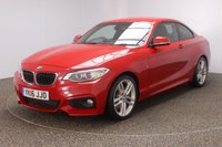 USED 2016 16 BMW 2 SERIES 2.0 225D M SPORT 2DR AUTO 222 BHP FULL BMW SERVICE HISTORY + HEATED LEATHER SEATS + SATELLITE NAVIGATION + PARKING SENSOR + BLUETOOTH + CRUISE CONTROL + CLIMATE CONTROL + HARMAN/KARDON SURROUND SOUND + DAB RADIO + PRIVACY GLASS + XENON HEADLIGHTS + MULTI FUNCTION WHEEL + ELECTRIC WINDOWS + ELECTRIC MIRRORS + 18 INCH ALLOY WHEELS