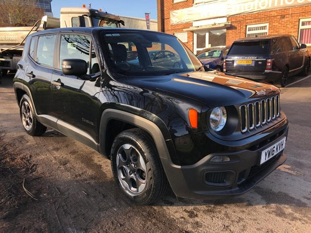 USED 2016 16 JEEP RENEGADE 1.6 M-JET SPORT 5d 118 BHP 1 OWNER, £30 A YEAR ROAD TAX, ALLOY WHEELS, CRUISE CONTROL, CLIMATE CONTROL