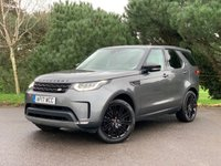 USED 2017 17 LAND ROVER DISCOVERY 2.0 SD4 SE 5d 237 BHP LOVELY SPEC NEW SHAPE DISCOVERY IN GREY WITH FULL HEATED BLACK LEATHER 7 SEATS PAN ROOF FSH