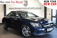 """USED 2017 17 MERCEDES-BENZ CLA 2.1 CLA 220 D SPORT 4DR AUTO 174 BHP Finished in a stunning cavancite metallic  blue styled with 18"""" alloys. Upon opening the drivers door you are presented with half leather interior, fill service history, panoramic sunroof, bluetooth, reversing camera, heated seats, smartphone integration package, active park assist, cruise control, multi functional steering wheel, attention assist"""
