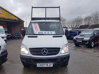 USED 2007 07 MERCEDES-BENZ SPRINTER TIPPER TRUCK AUTOMATIC 3500 TONNER ( NO VAT TRADE ) ((((((((( NO VAT TO ADD TRADE SALE ONLY )))))))))