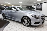 USED 2016 65 MERCEDES-BENZ CLS CLASS 3.0 CLS350D AMG LINE PREMIUM AUTO 255 BHP LED LIGHTS COMAND NAV CAM ROOF