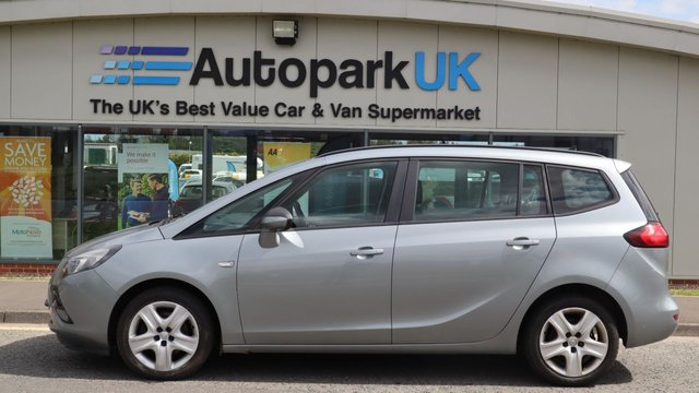 USED 2012 12 VAUXHALL ZAFIRA TOURER 1.4 EXCLUSIV 5d 138 BHP LOW DEPOSIT OR NO DEPOSIT FINANCE AVAILABLE