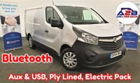 USED 2014 64 VAUXHALL VIVARO  1.6 CDTI in Silver with Bluetooth, Aux & USB, Full Service History, Sliding Door, Fully Ply Lined and more ** Drive Away Today** Over The Phone Low Rate Finance Available, Just Call us on 01709 866668 **