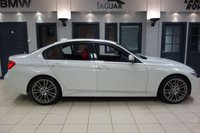USED 2014 64 BMW 3 SERIES 2.0 320D M SPORT 4d AUTO 181 BHP FINISHED IN STUNNING ALPINE WHITE WITH BEAUTIFULLY CONTRASTING FULL RED LEATHER SEATS + PROFESSIONAL SATELLITE NAVIGATION + DAB DIGITAL RADIO + DUAL ZONE AIR CONDITIONING + CLIMATE CONTROL + AUTO LIGHTS + LIGHT PACKAGE + HEATED SEATS + CRUISE CONTROL + PARK ASSIST + VOICE COMMAND + SELECTABLE DRIVING MODES + RAIN SENSORS + BLUETOOTH PHONE AND BLUETOOTH MEDIA + UPGRADED M SPORT ALLOY WHEELS.