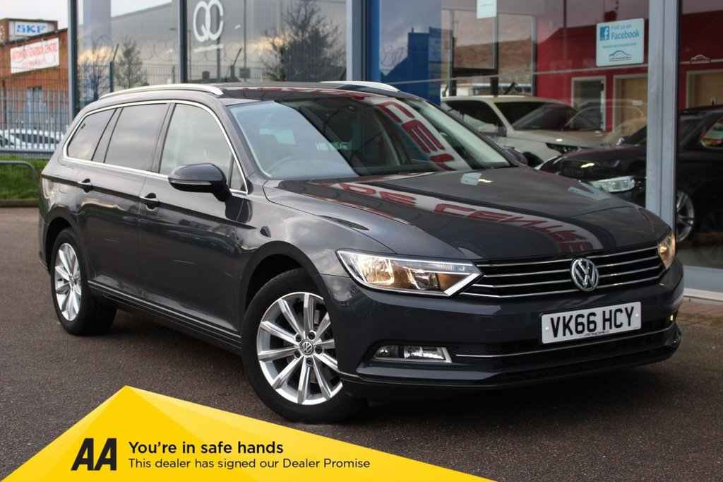 "USED 2016 66 VOLKSWAGEN PASSAT 2.0 SE BUSINESS TDI BLUEMOTION TECH DSG 5d 148 BHP - EURO 6, £30 TAX, NAV, BLUETOOTH, ACC, DAB & 17"" ALLOYS"