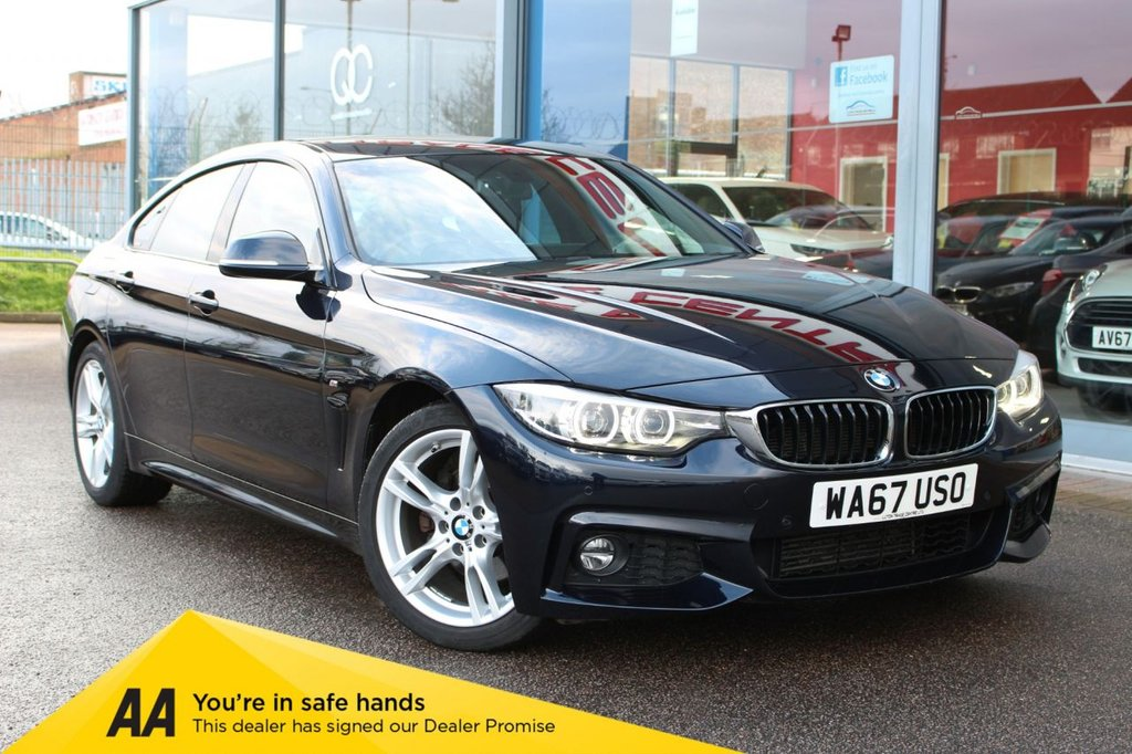 """USED 2017 67 BMW 4 SERIES 2.0 420D M SPORT GRAN COUPE 4d 188 BHP - EURO 6, NAV, HTD/LEATHER, CRUISE, 18"""" ALLOYS, BLUETOOTH, DAB & ELECTRIC BOOT RELEASE"""