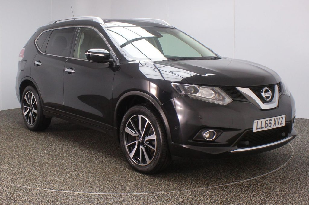 USED 2016 66 NISSAN X-TRAIL 1.6 DCI TEKNA 5DR 1 OWNER 130 BHP FULL SERVICE HISTORY + HEATED LEATHER SEATS + 7 SEATS + PANORAMIC ROOF + SATELLITE NAVIGATION + 360 DEGREE CAMERA + PARK ASSIST + PARKING SENSOR + BLUETOOTH + CRUISE CONTROL + CLIMATE CONTROL + MULTI FUNCTION WHEEL + XENON HEADLIGHTS + PRIVACY GLASS + DAB RADIO + ELECTRIC SEATS + ELECTRIC WINDOWS + ELECTRIC/HEATED DOOR MIRRORS + 19 INCH ALLOY WHEELS